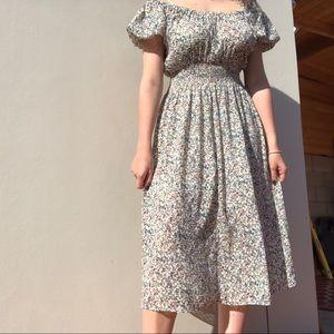 Madewell peasant dress.